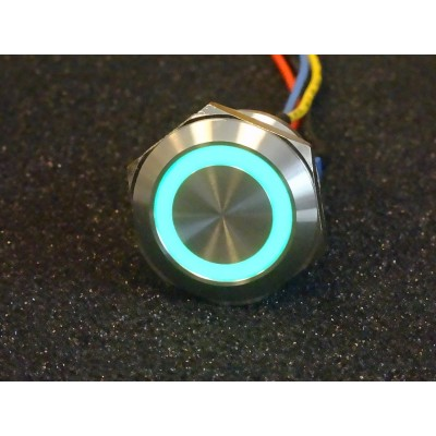 22mm Pushbutton with LED ring